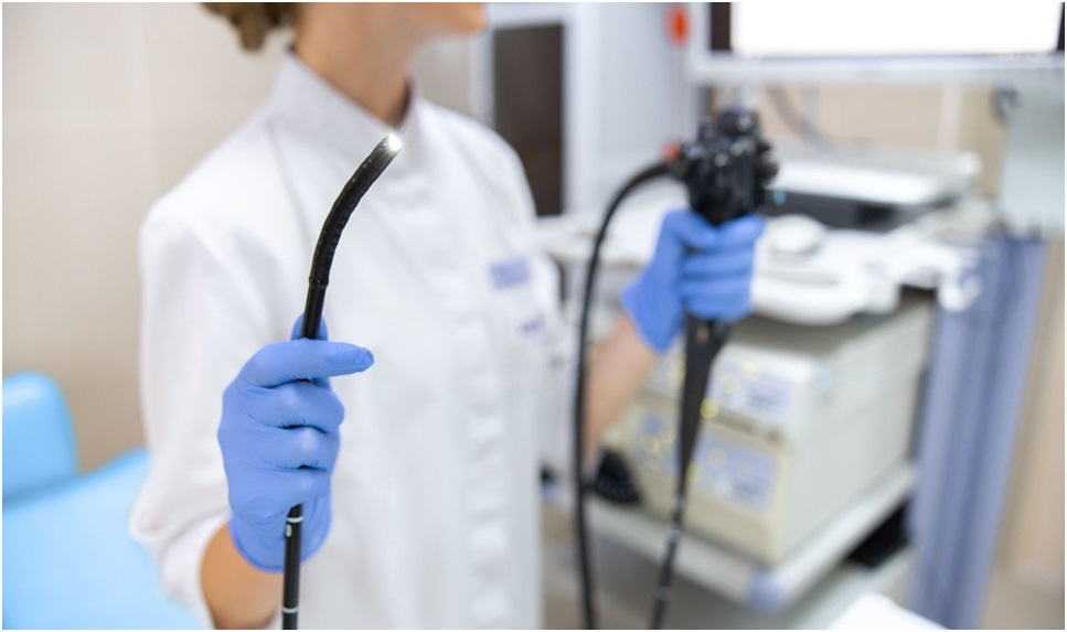 What can be detected with an endoscope?